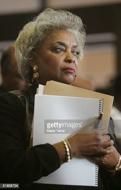 Broward County Supervisor of Elections Dr. Brenda C. Snipes waits to speak to the media about a plan to mail replacement ballots to voters October...