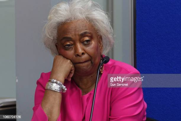 Broward Supervisor of Elections Brenda Snipes listens on Monday, Nov. 12 at the Broward Supervisor of Elections office in Lauderhill, Fla. The...