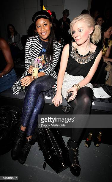 Brown and friend attend the Topshop Unique show during London Fashion Week Autumn/Winter 2009 at at University of Westminster on February 21 2009 in...