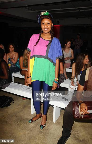 Brown attends the Autumn Winter collection of 'William Rast' at Selfridges on June 29, 2009 in London, England.
