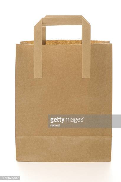 brown bag - handle stock pictures, royalty-free photos & images