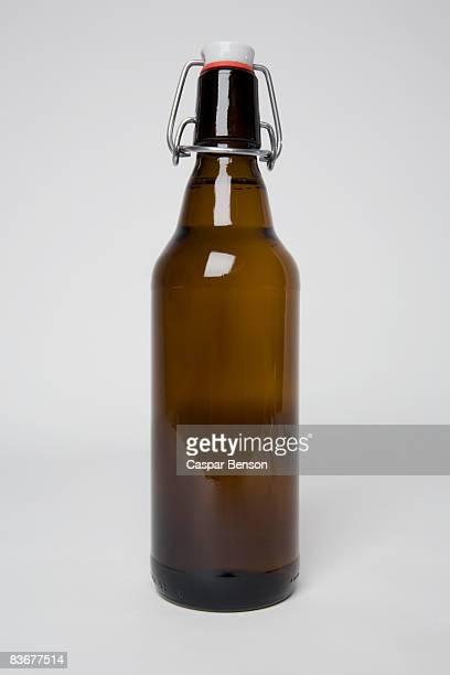 A brown beer bottle