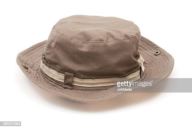 Brown Canvas Hat
