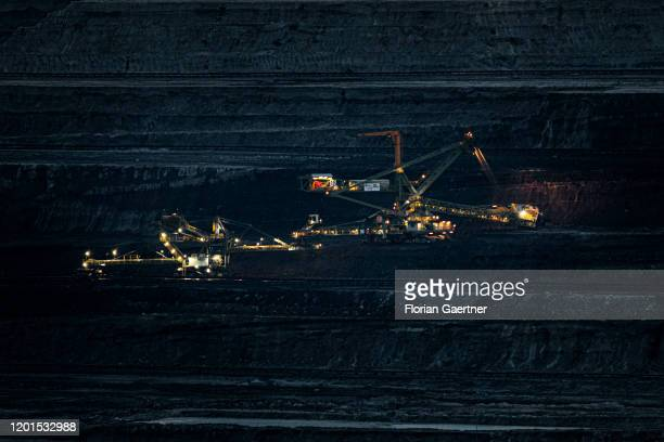 Brown coal mining of the polish energy company PGE is pictured on February 16, 2020 in Bogatynia, Poland.