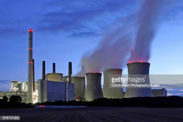 Brown coal power house Neurath of RWE in the north west of Cologne.