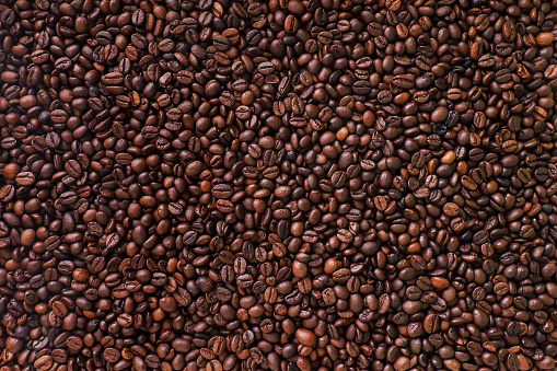 Brown Coffee Beans Background. 1044157554