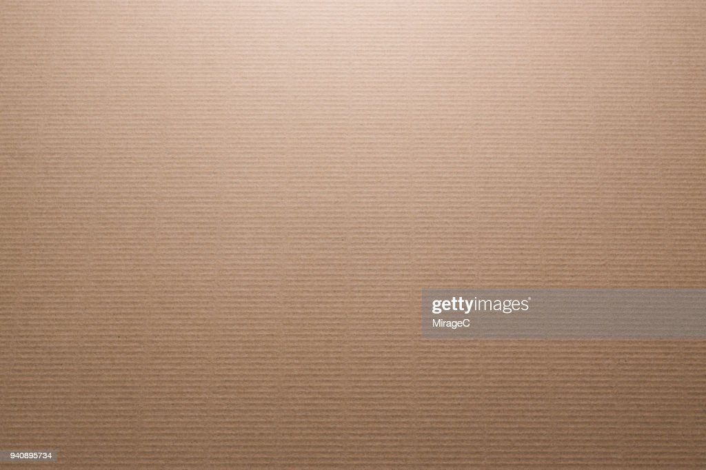 Brown Color Corrugated Cardboard : Stock Photo