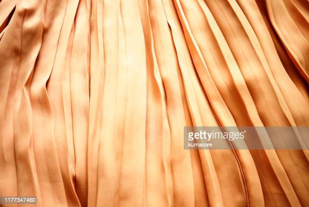 brown color pleated fabric - プリーツ ストックフォトと画像