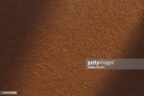 brown felt with shadow - felt textile stock pictures, royalty-free photos & images