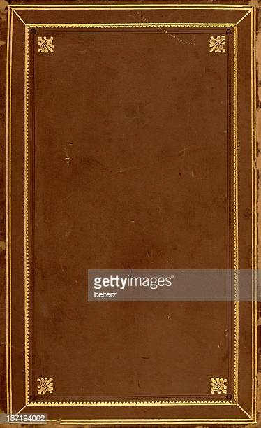 brown gilded book cover