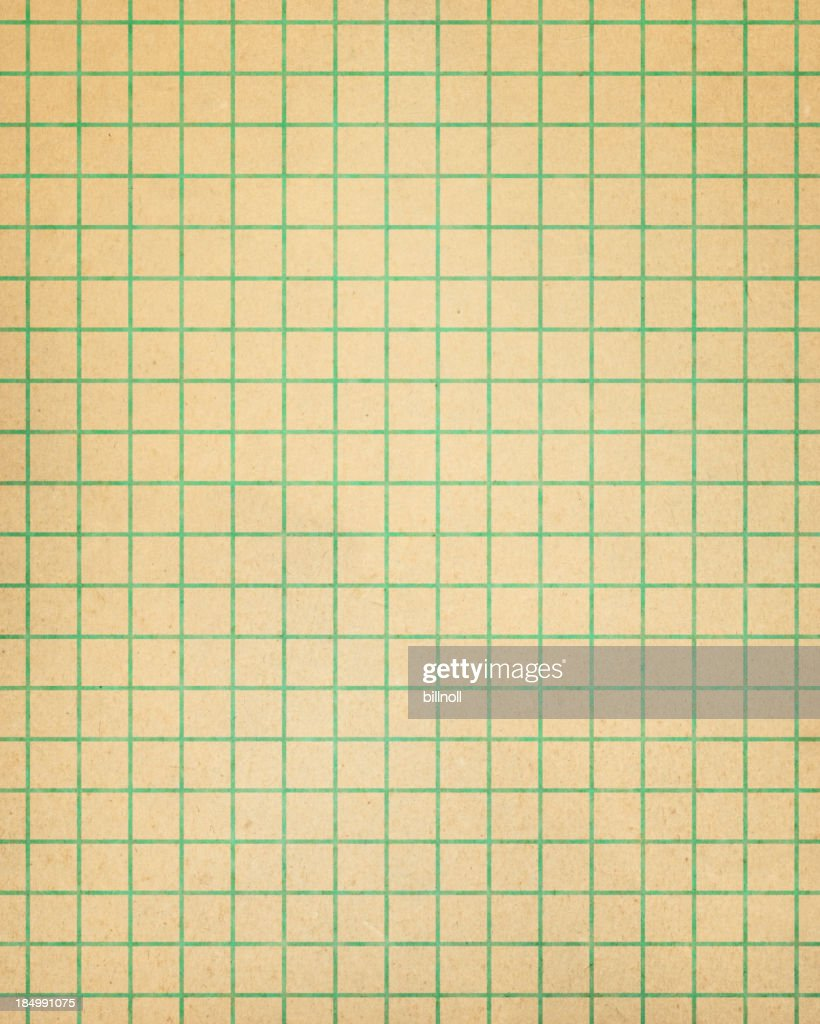 Brown Graph Paper With Green Lines : Stock Photo  Lines Paper