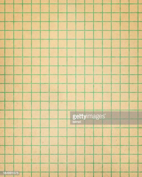 ブラウンのグラフ用紙、グリーンライン