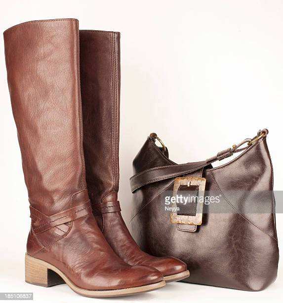 brown leather - leather boot stock pictures, royalty-free photos & images