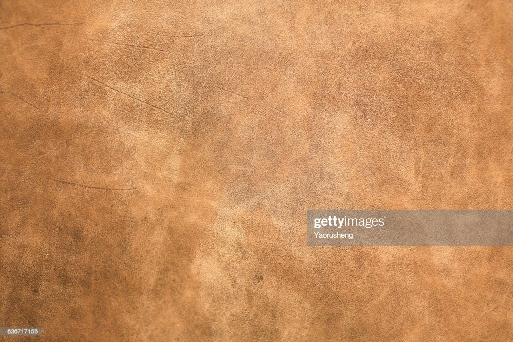brown leather texture closeup for background and design works : Stock Photo