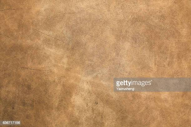 brown leather texture closeup for background and design works - calzature di pelle foto e immagini stock