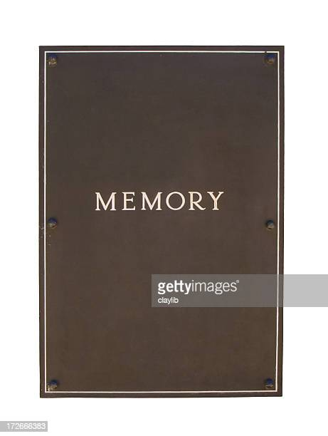 brown metal frame or plaque - heavy duty: isolated - memorial plaque stock pictures, royalty-free photos & images