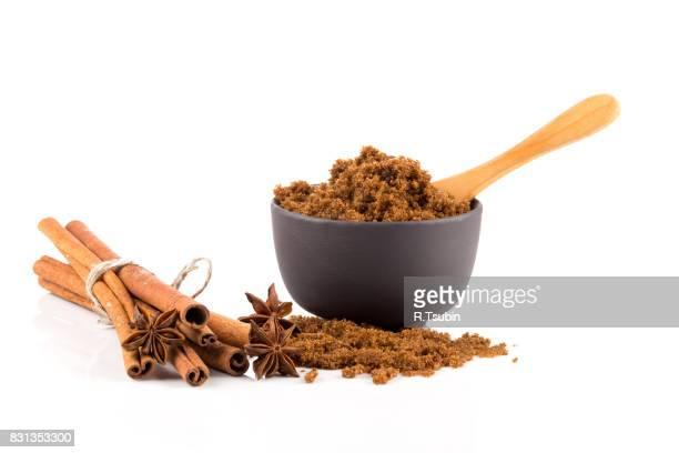 brown muscovado sugar in bowl