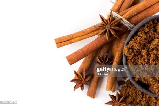 brown muscovado sugar with spices