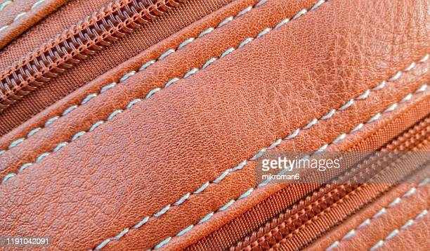 brown natural leather texture - leather stock pictures, royalty-free photos & images