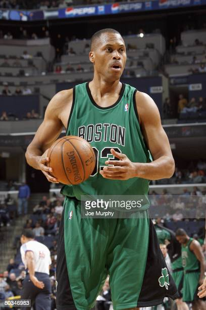 J Brown of the Boston Celtics moves on court against the Memphis Grizzlies during the game on March 8 2008 at FedExForum in Memphis Tennessee The...