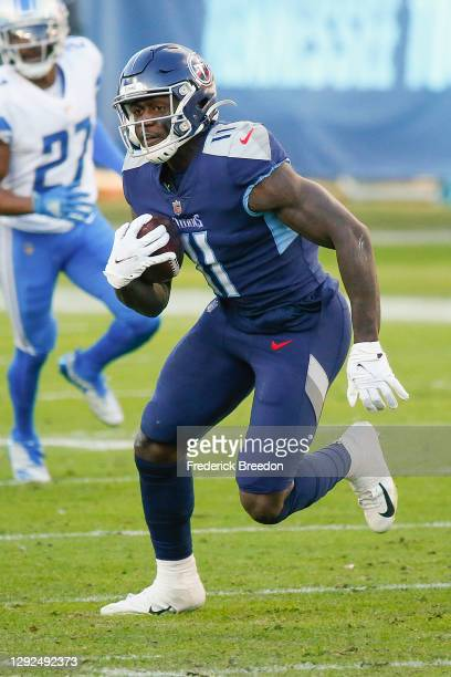 Brown of the Tennessee Titans plays against the Detroit Lions at Nissan Stadium on December 20, 2020 in Nashville, Tennessee.