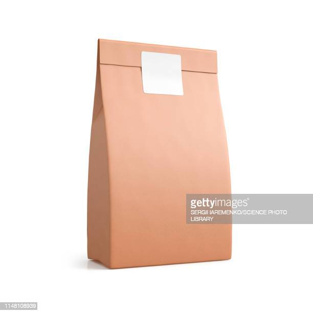 brown paper bag, illustration - packaging stock pictures, royalty-free photos & images