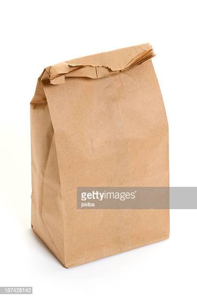 Déjeuner de sac de papier Brun sur fond blanc