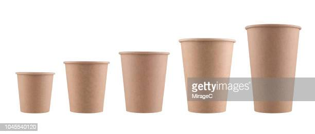 brown paper disposable cups - disposable cup stock pictures, royalty-free photos & images