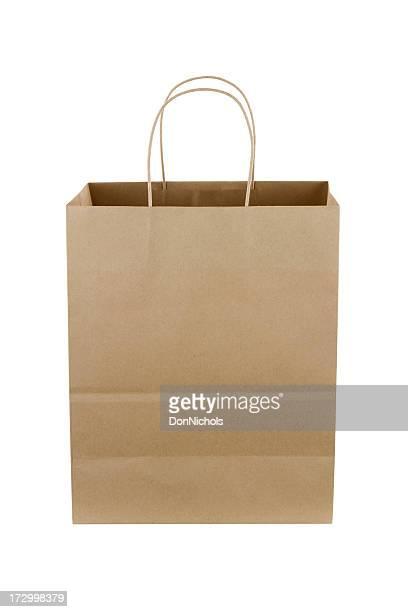 Braunes Papier-Einkaufstasche