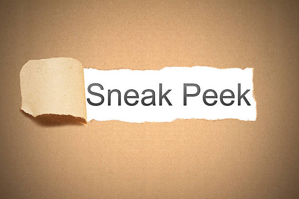 brown paper torn to reveal sneak peek