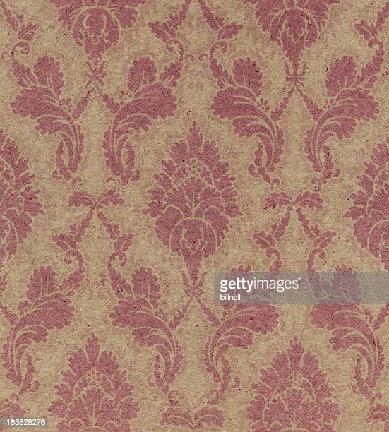 brown paper with floral pattern