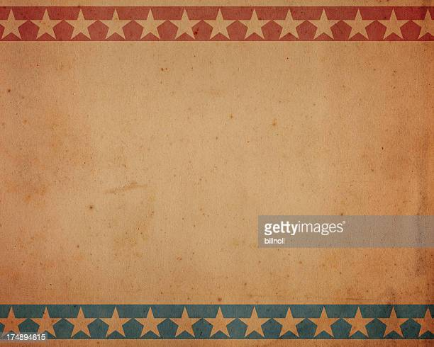 brown paper with patriotic star pattern