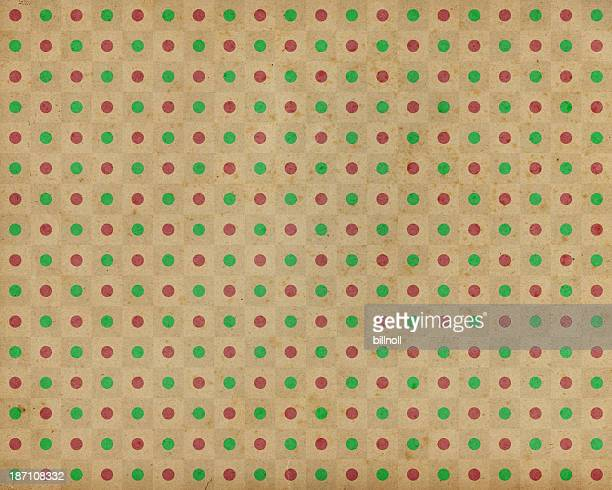 brown paper with red and green dots