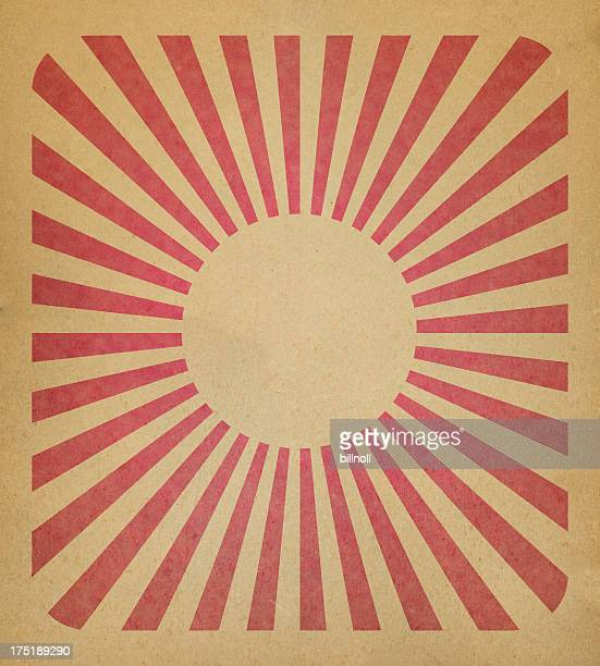 brown paper with sun and ray pattern