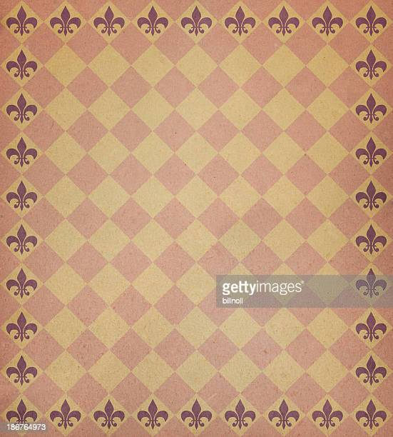 brown paper with symbol border
