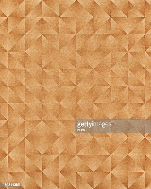brown paper with triangle pattern