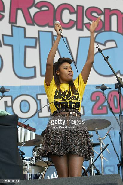 Brown performs at 'The Love Music Hate Racism Festival' at Britannia Stadium on May 30, 2009 in Stoke on Trent, England.
