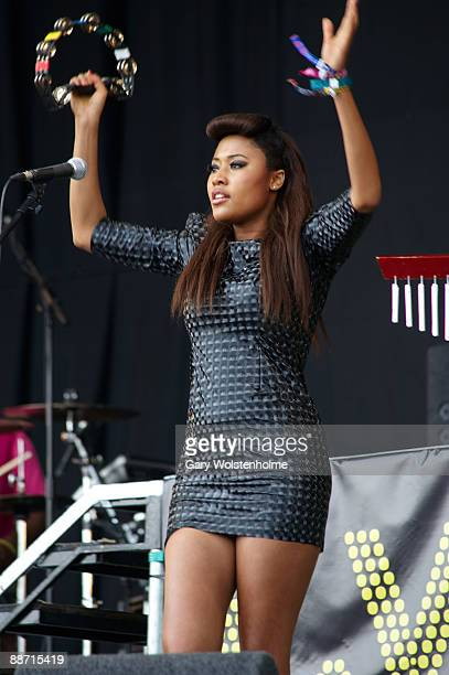 Brown performs on stage on day 3 of Glastonbury Festival at Worthy Farm on June 27, 2009 in Glastonbury, England.