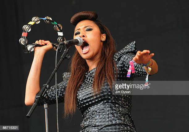Brown performs on the Pyramid Stage during day 3 of the Glastonbury Festival at Worthy Farm in Pilton Somerset on June 27 2009 in Glastonbury England
