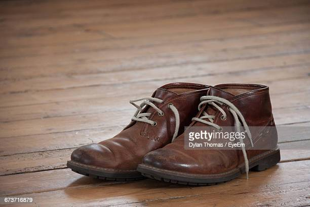 Brown Shoes On Hardwood Floor