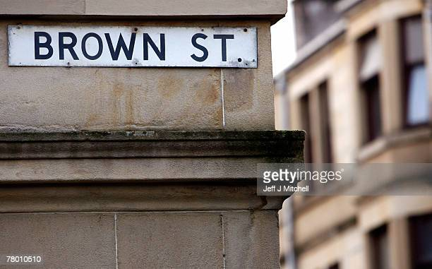 Brown Street Paisley a former residence of Peter Tobin who was charged last week for the murder of 15 year old Vicky Hamilton who went missing in...