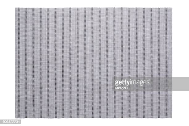 Brown Stripy Placemat on White