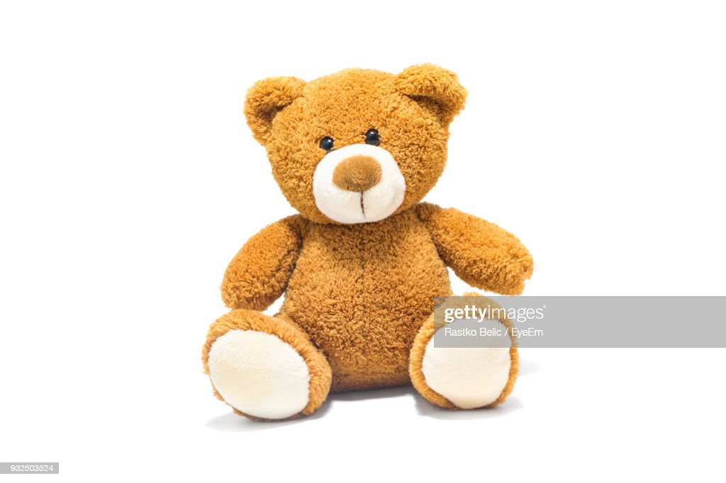 Brown Stuffed Toy Over White Background : Stock Photo