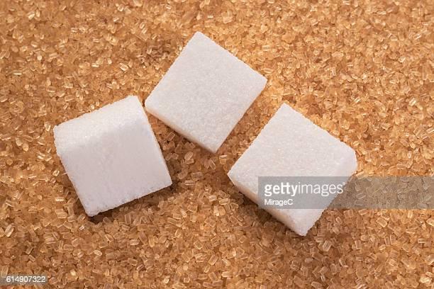 Brown Sugar and White Sugar Cube