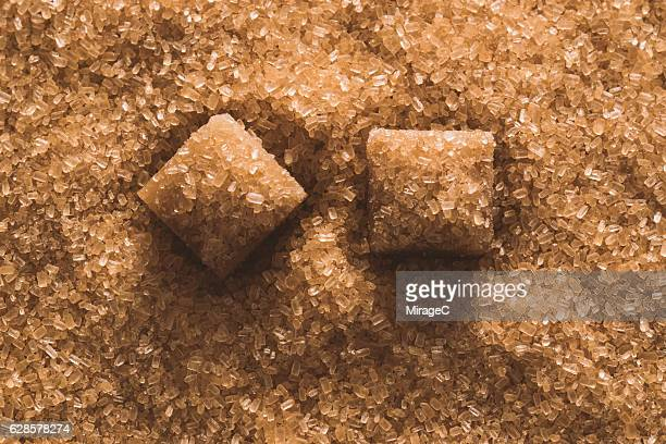 Brown Sugar Cube Macro View