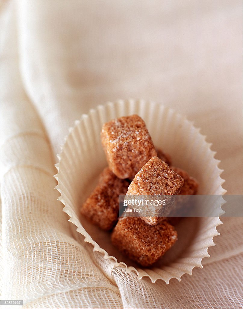 brown sugar cubes : Stock Photo