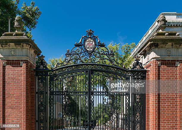 Brown University campus gate.