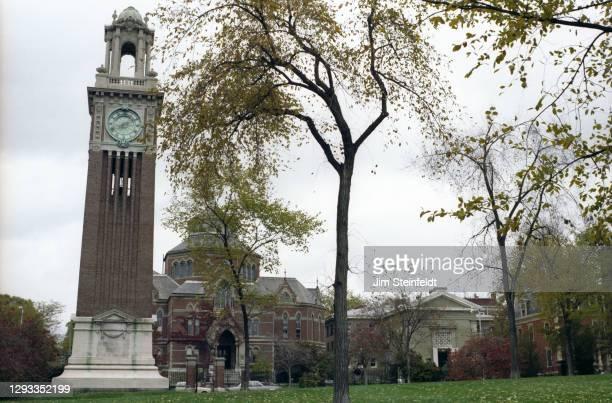 Brown University in Providence, Rhode Island on October 17, 1981.