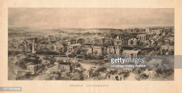 Brown University, Photogravure Print, Woodbury Carlton Company, 1906.