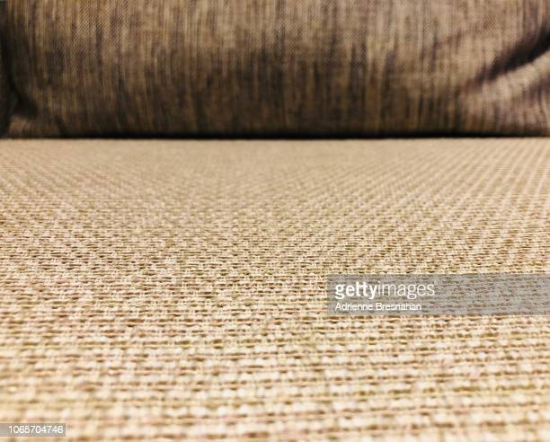 brown upholstery, surface level view - cushion stock photos and pictures